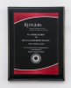 Black Piano Finish Plaque with Red Acrylic Plate Acrylic Plaques