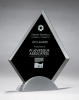 Diamond Series Glass Award with Silver Metal Base Black Glass Awards