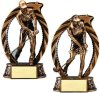 Bronze and Gold Golf Bronze and Gold Star Resin Trophy Awards