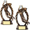 Bronze and Gold Goalie Soccer Award Bronze and Gold Star Resin Trophy Awards