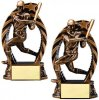 Antique Bronze  and Gold Baseball / Softball Bronze and Gold Star Resin Trophy Awards