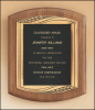 American Walnut Plaque with Antique Bronze Frame Cast Plaques