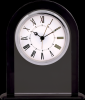 Black/Clear Glass Clock Employee Awards