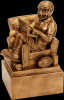 Fantasy Football Man in Chair Resin Football Trophy Awards