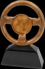 Antique Gold Steering Wheel Resin with 2 Insert Holder Misc. Resin Trophy Awards