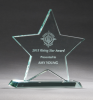 Jade Glass Star Award Patriotic Awards