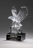 Crystal Eagle on Black Base Patriotic Awards