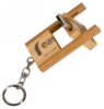 Bamboo 8 GB Flip Style USB Flash Drive With Keychain Pocket Accessories