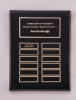 Black Piano-Finish Perpetual Plaque Sales Awards
