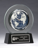 Glass Clock with World Dial Sales Awards