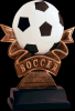 Ribbon Soccer Resin Soccer Trophy Awards