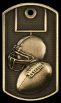 3-D Football Dog Tag Medal 3-D Dog Tag Series