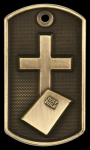3-D Religion Dog Tag Medal 3-D Dog Tag Series
