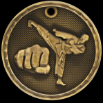 3-D Martial Arts Medal 3-D Series Medal Awards