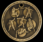 3-D Track and Field Event Medal 3-D Series Medal Awards