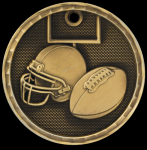 3-D Football Medal 3-D Series Medal Awards