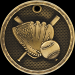 3-D Baseball Medal 3-D Series Medal Awards