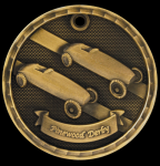 3-D Pinewood Derby Medal 3-D Series Medal Awards
