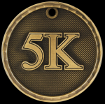 3-D 5K Medal 3-D Series Medal Awards