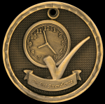 3-D Perfect Attendance Medal 3-D Series Medal Awards