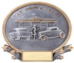 Car Show and Cruise Resin 3D Oval Resin Trophy Awards