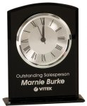 Black Glass Arch Clock with Base Arch Awards