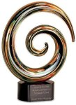 Swirl Art Glass Award Art Glass Sculptures