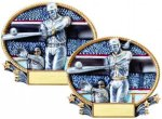 3D Oval Baseball / Softball Baseball Trophy Awards