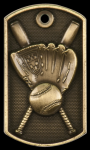 Baseball 3-D Dog Tag Medal Baseball Trophy Awards