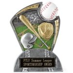 Large Spin Award Baseball Baseball Trophy Awards