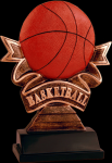 Ribbon Basketball Resin Basketball Awards