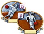 3D Oval Basketball Basketball Awards