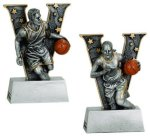Basketball V Series Resin Basketball Trophy Awards