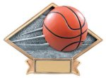 Basketball Diamond Plate Resin  Basketball Trophy Awards