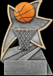 Basketball Jazz Star Resin Basketball Trophy Awards