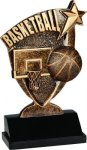 Basketball Broadcast Resin Basketball Trophy Awards