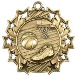 Basketball Ten Star Medal Basketball Trophy Awards