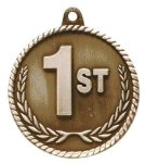 High Relief 1st Place Medal Billiards/Pool Trophy Awards
