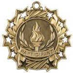 Participant Ten Star Medal Billiards/Pool Trophy Awards