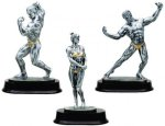 Body Builder Resin Figure Body Building Trophy Awards