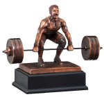 Deadlift Weightlifter Body Building Trophy Awards