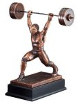 Weightlifter Body Building Trophy Awards