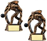Antique Bronze and Gold Bowling Bowling Trophy Awards