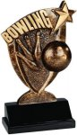 Bowling Broadcast Resin Bowling Trophy Awards