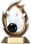 Flame Series Bowling Bowling Trophy Awards