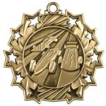 Pinewood Derby Ten Star Medal Car/Automobile Trophy Awards