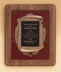 American Walnut Frame with Antique Bronze Casting Cast Plaques