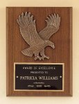 American Walnut Plaque with Eagle Casting Cast Plaques