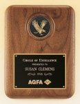 American Walnut Plaque with Eagle Medallion Cast Plaques