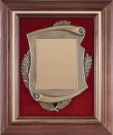 Walnut Frame Cast Corporate Plaque Cast Relief Plaques